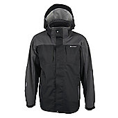 Cairn Mens 3 Layer Hooded Waterproof Breathable Sporty Jacket Coat - Black