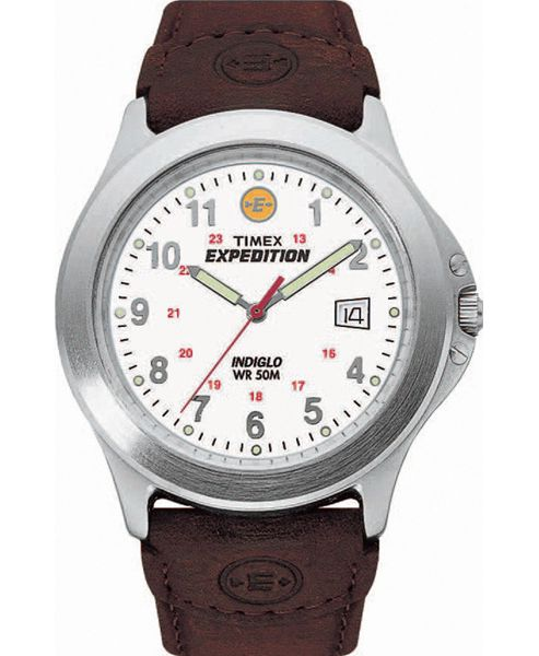 Timex Gents Expedition Brown Leather Strap Watch T44381SU
