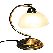 Loxton Lighting Touch Table Lamp - Antique Brass