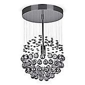 Denver Ceiling Light Chandelier in Black Chrome