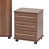 Ideal Furniture Bobby 3 Drawer Chest - Walnut