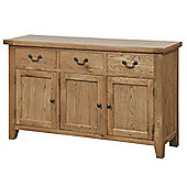 Tavistock Oak 3 Drawer Sideboard
