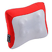 Homcom Electric Heating Massage Neck Head Back Arm Muscles Relax Pillow Shiatsu Massager (Red)