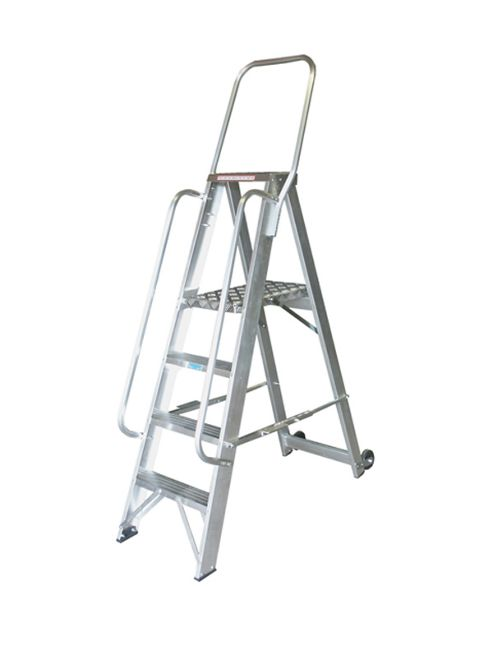Heavy Duty 8 Tread Single Sided Stock Picking Step Ladder