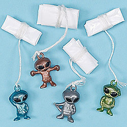 Alien Parachutes - Pack of 6 children kids toy