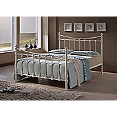 Florida Ivory Victorian Style Sprung Slatted Metal Bed Frame 3FT Single