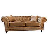 Gallery Francesca 3 Seater Sofa - Gold Velvet
