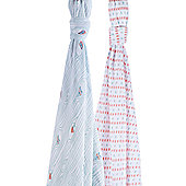 Bebe Au Lait Muslin Swaddle - Little Owl + Tinsley (2pk)