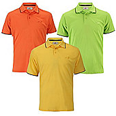 Woodworm Bold Performance Mens Golf Polo Shirts - 3 Pack Large
