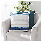 Ombre Stripe Print Cushion 43 x 43cm, Blue
