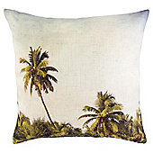 Palm Tree Scene Cushion