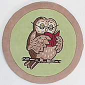 Sherb Owl Rug, Not Before Tea - 90 cm