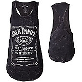 Jack Daniel's Classic Old No.7 Brand Logo Women's Tanktop, Medium, Black - Music T-Shirts