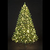 5ft Pre-Lit Carson Spruce Christmas Tree with 160 Warm White LEDs