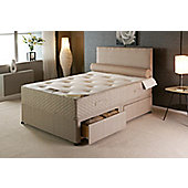 Vogue Beds Natural Touch Pocket Ortho Caress 1500 Platform Divan Bed - Small Double / Without Drawer