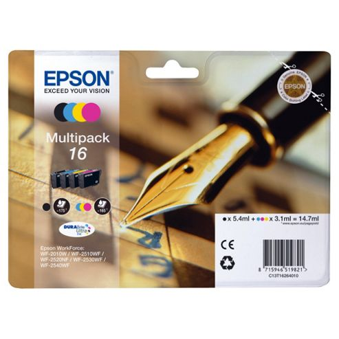Epson (16) T1626 multipack printer ink cartridge