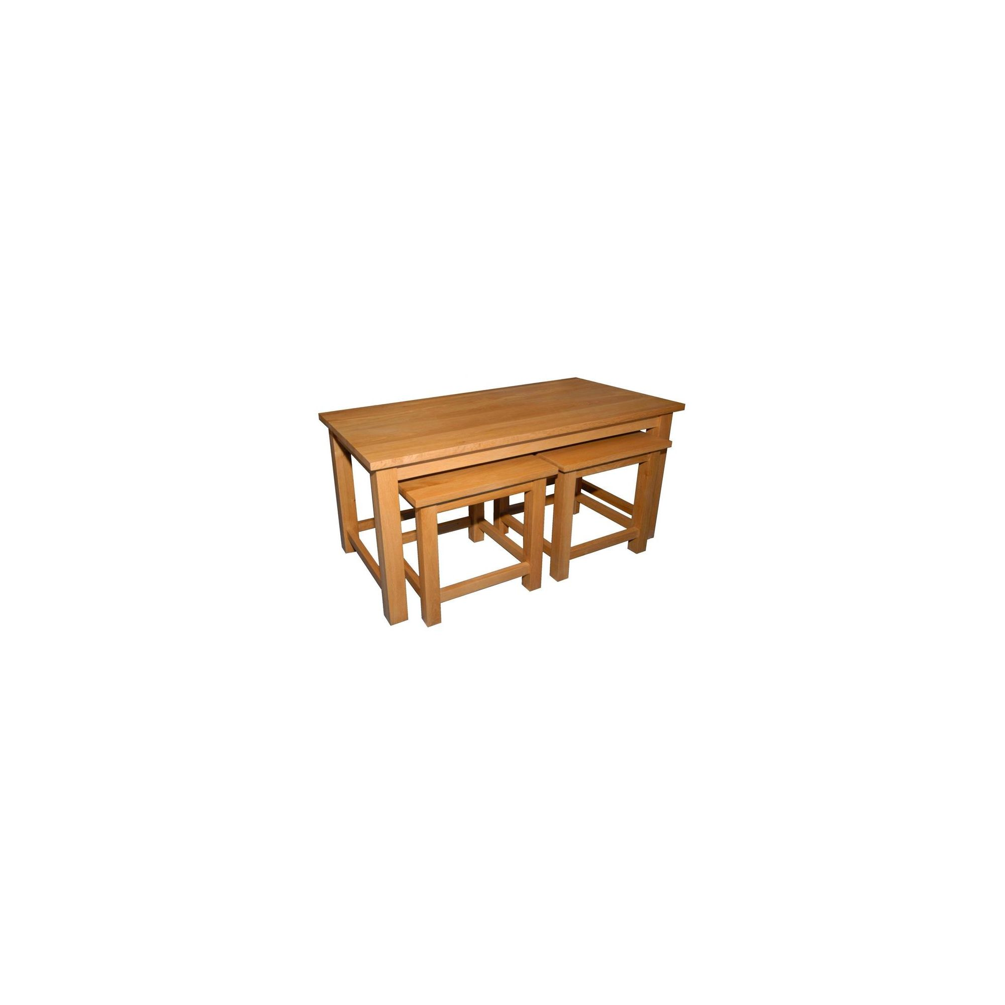 Kelburn Furniture Essentials 3 Piece Nest of Coffee Table Set in Light Oak Stain and Satin Lacquer at Tesco Direct