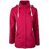 Pacific Womens Lightweight Resistant Showerproof Adjustable Hooded Jacket Coat - Pink