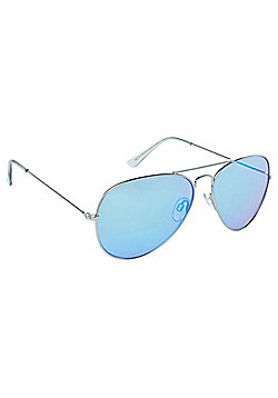 F&F Mirrored Aviator Sunglasses