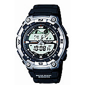 Casio Sports Mens Rubber Chronograph Watch AQW-100-1AVEF
