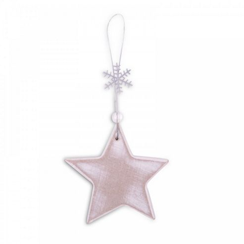Rustic Finish Wooden Star Christmas Tree Decorations or Bottle Gift Tag