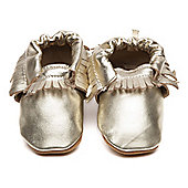 Cherry Kids Moccasins Baby Shoes Gold - Gold