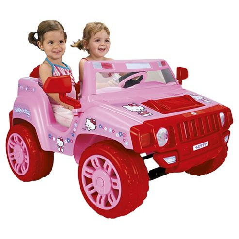 Injusa Hello Kitty Jeep Battery Operated Ride-On