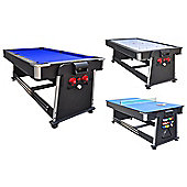 Strikeworth 7ft Multi Games Table With Blue Cloth