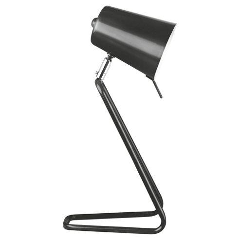 Leitmotiv 'Z' Table Lamp in Satin - Black
