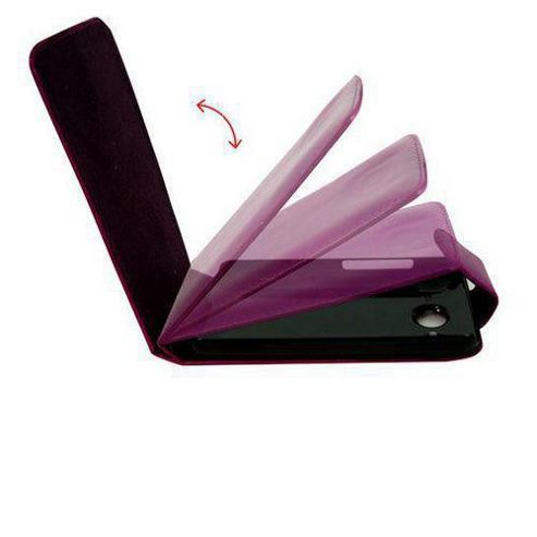 U-bop Neo-ORBIT Leather Case Purple- For Apple iPhone 4, 4S S