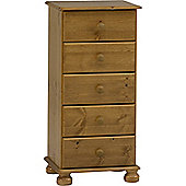 Techstyle 5 Drawer Storage Tallboy Chest