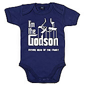 Dirty Fingers I'm the Godson future head of the family Baby Bodysuit - Navy