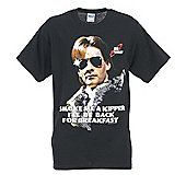 "Official Red Dwarf Ace Rimmer ""Smoke Me A Kipper"" Adults Black T-Shirt - Black"