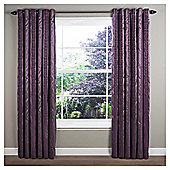 "Sierra Lined Eyelet Curtains W117xL137cm (46x54"") - - Plum"