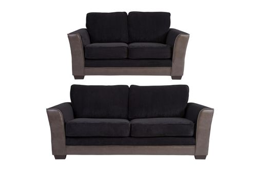 Buy Devon 3 2 Seater Sofa Set Black From Our Sofa Beds