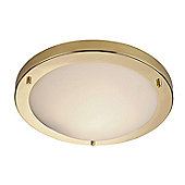 Firstlight Rondo 1 Light Flush Ceiling Light in Brass