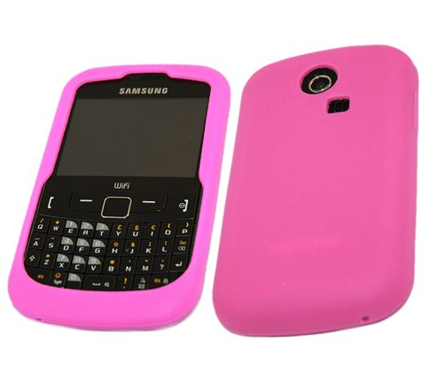 iTALKonline 18016 SoftSkin Silicone Case - Samsung S3350 335 Ch@t (Pink)