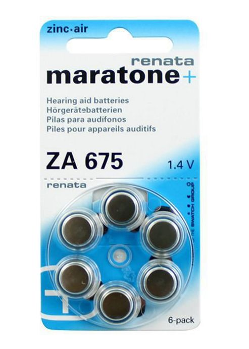 Renata ZA675 Battery Button Cell x6 Zinc Air