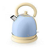 Swan SK261020BLN 3kW Fast-Boil 1.8 Litre Retro Dome Kettle in Blue