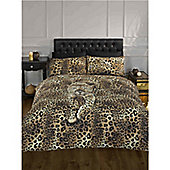 Rapport Serengeti Prowling Leopard Quilt Set Double Multi Coloured