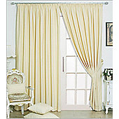 "Eclipse Blackout 3"" Tape Ready Made Curtains - Fully Lined - Black, Linen & Red - Ivory"