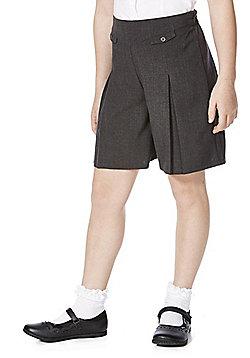 F&F School Girls Permanent Pleat Culottes - Grey
