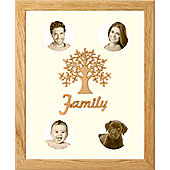 Large Family Photo Tree of Life Picture Frame Solid Oak 50x40cm (4)