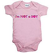 Dirty Fingers, I'm NOT a Baby Bodysuit, 0-3m, Pink