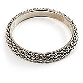 Stylish Metal Mesh Bangle Bracelet (Burnt Silver Tone)