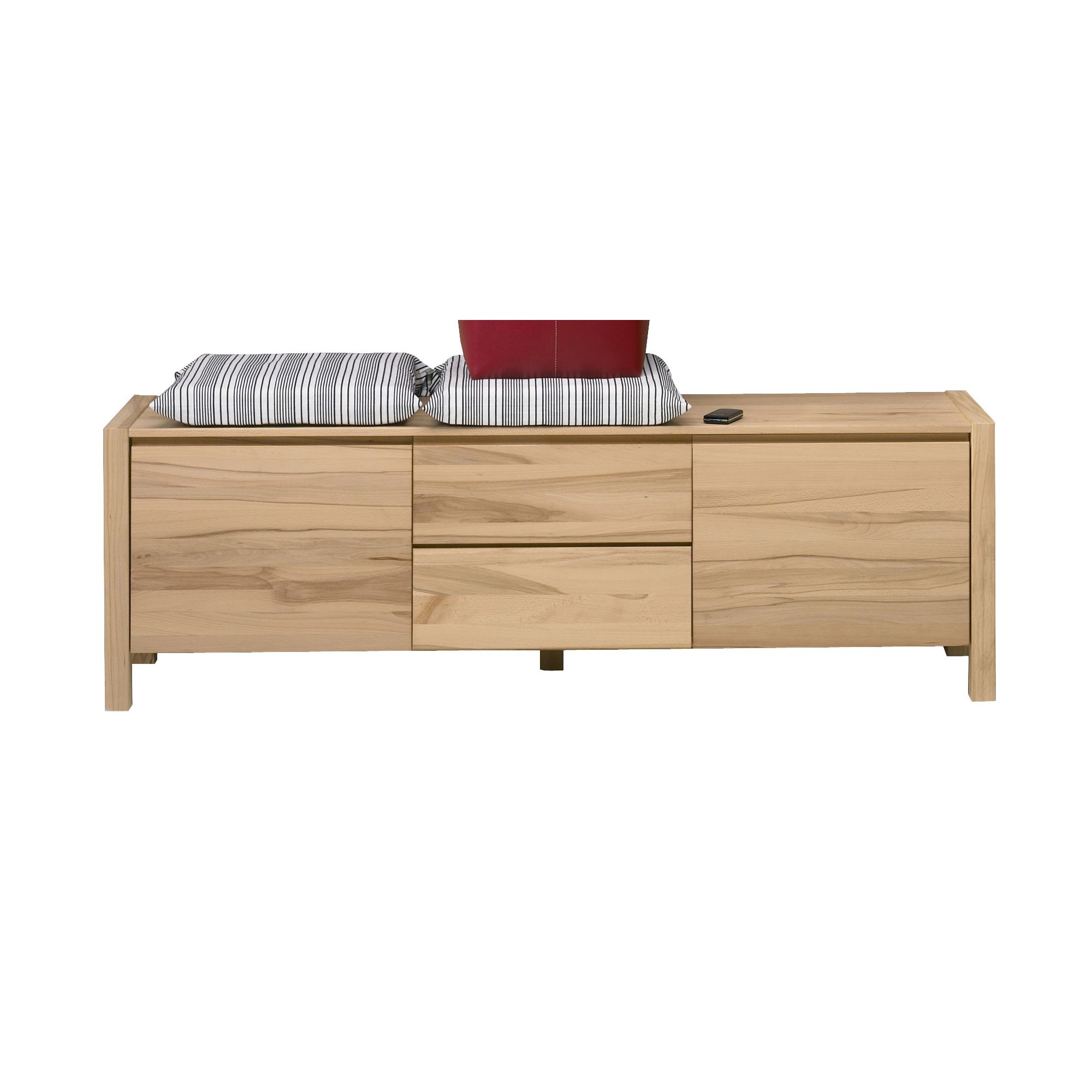 Oestergaard Mille Low Chest of Drawers 159cm - Heartwood Beech solid at Tesco Direct