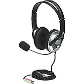 Manhattan 175555 Wired Stereo Headset - Over-the-head - Circumaural - Black
