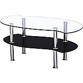 Colby Clear and Black Coffee Table