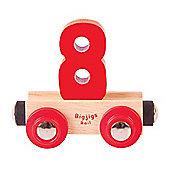 Bigjigs Rail Rail Name Number 8 (Red)