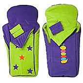 Cozyosko BuggyBag Footmuff (Lime Stars/Purple Caterpillar)